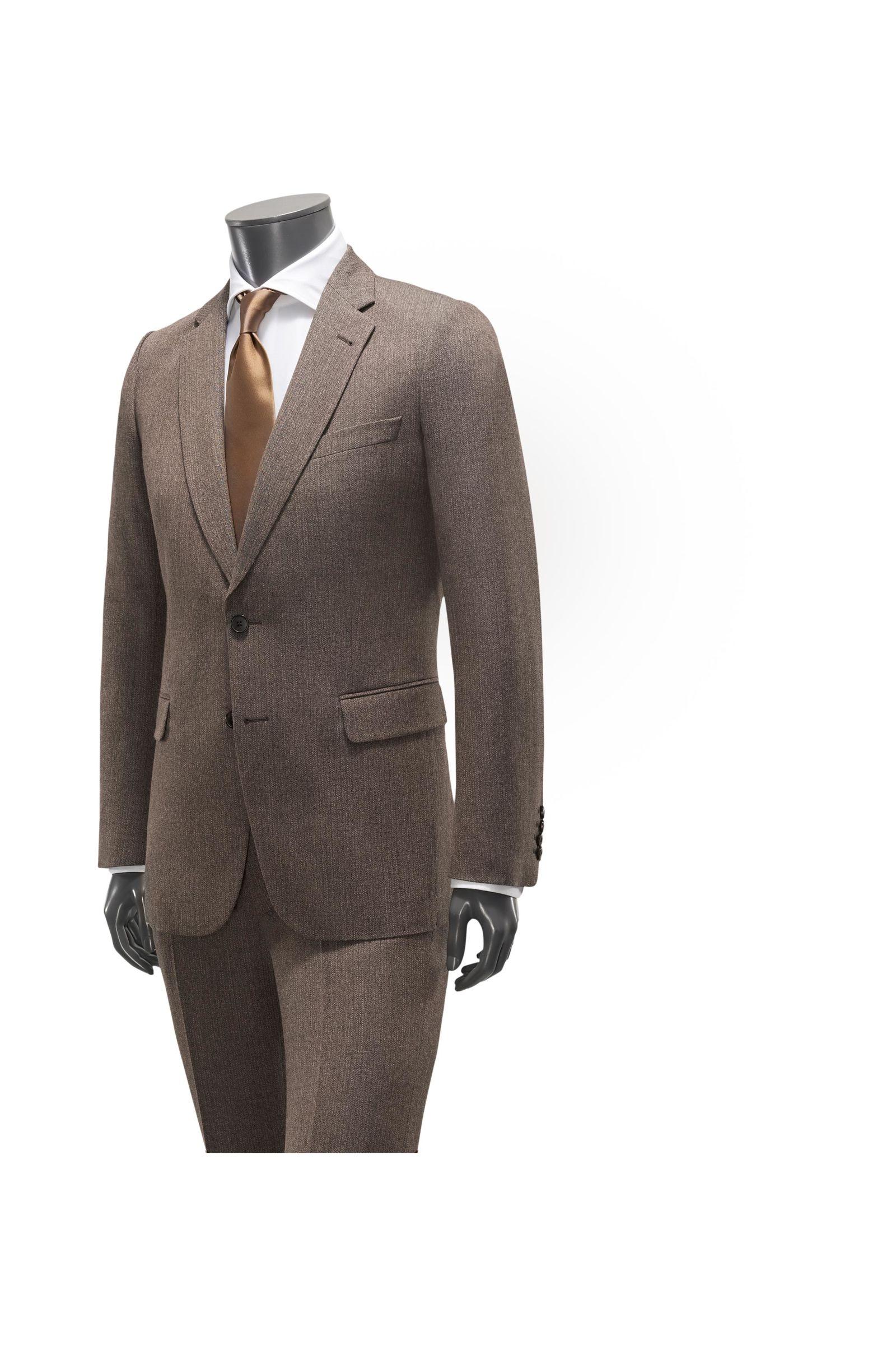 Anzug 'Kline' graubraun gestreift