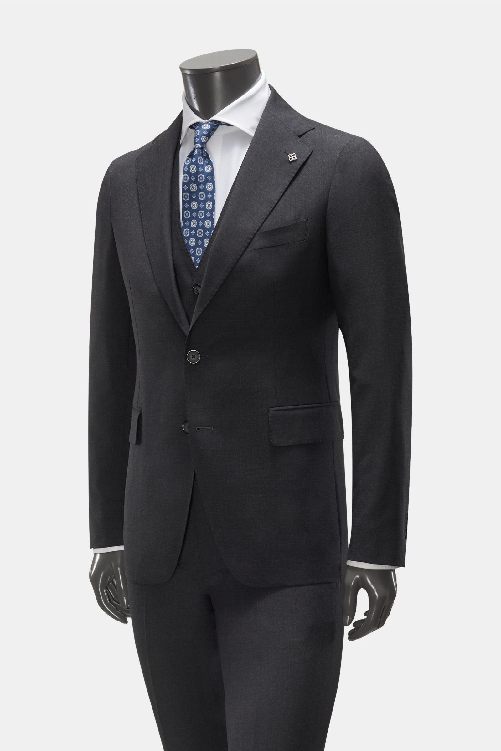 Anzug mit Weste dunkelgrau