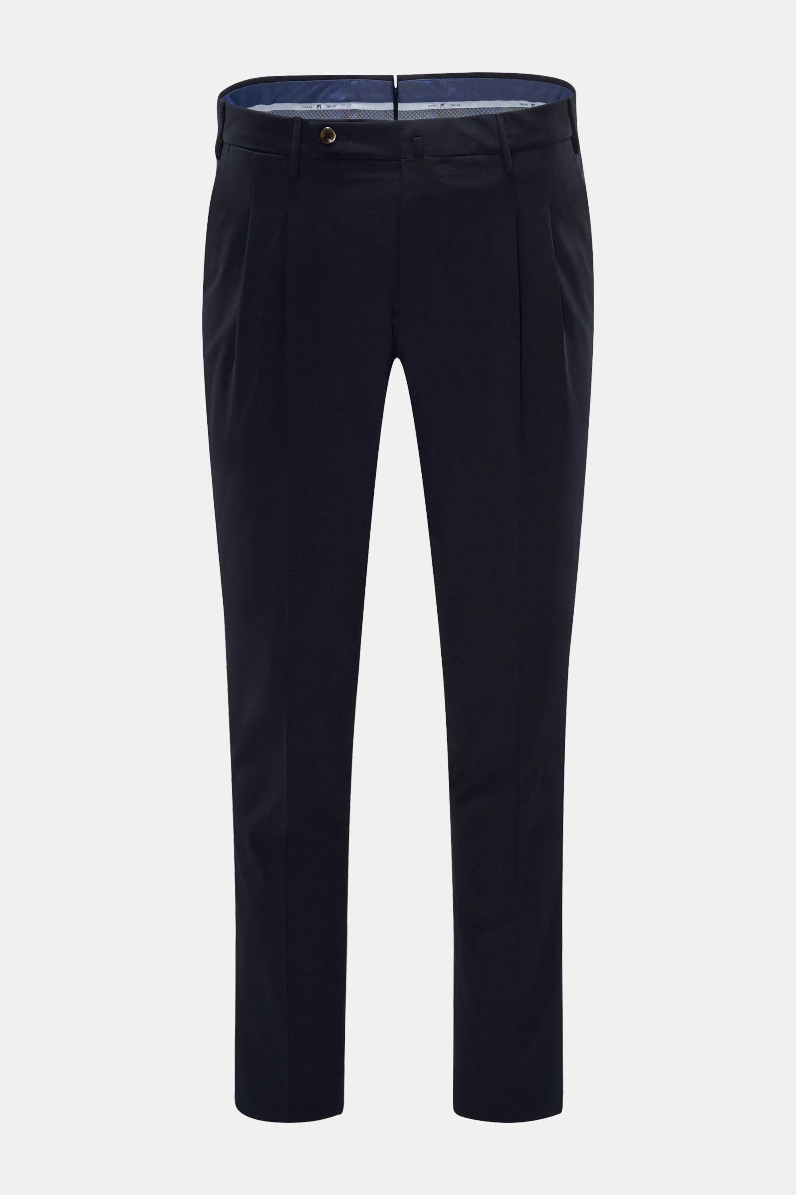 Wollhose 'Preppy Fit' navy