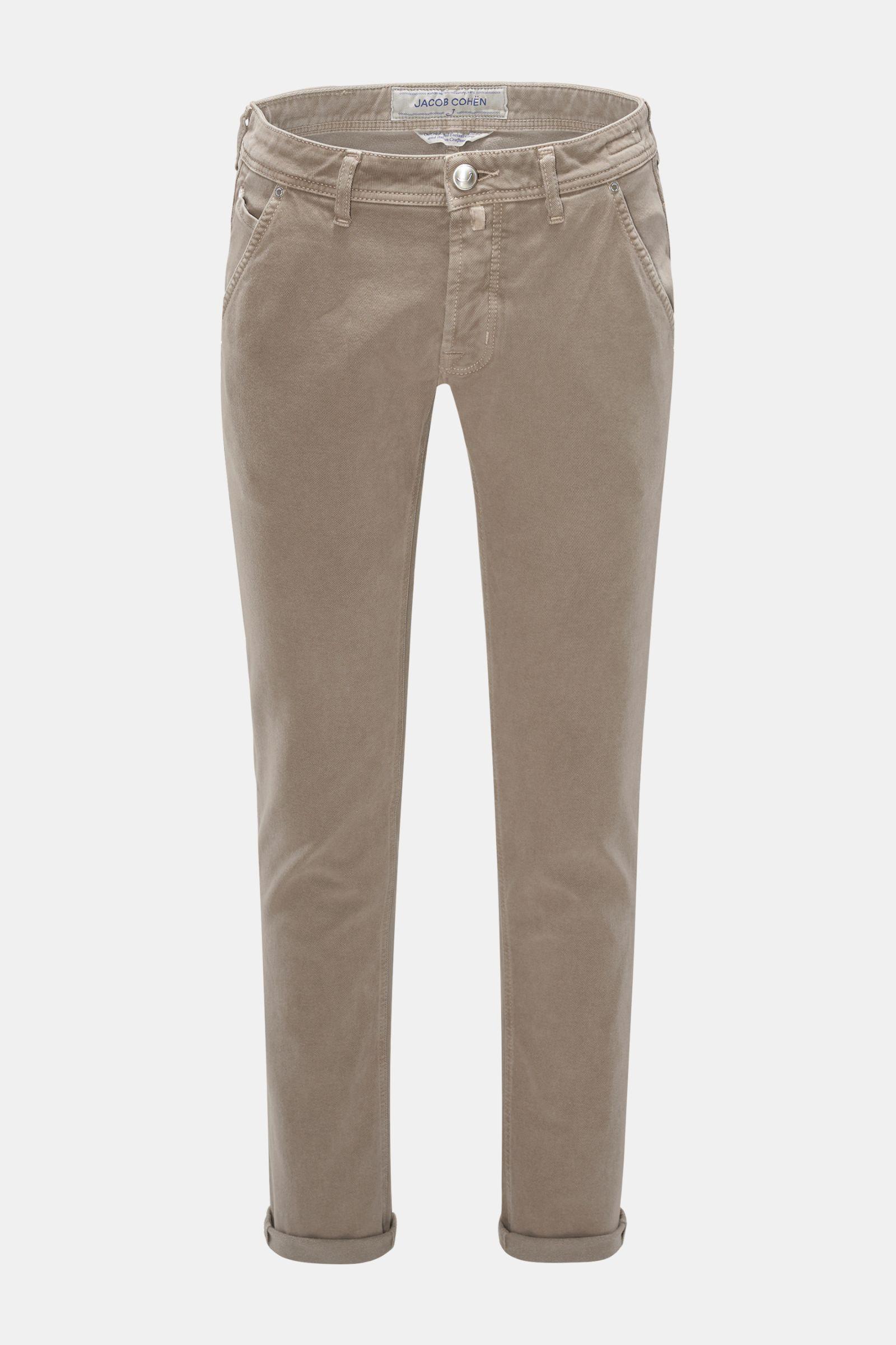 Baumwollhose 'J613 Comfort Vintage Slim Fit' graubraun