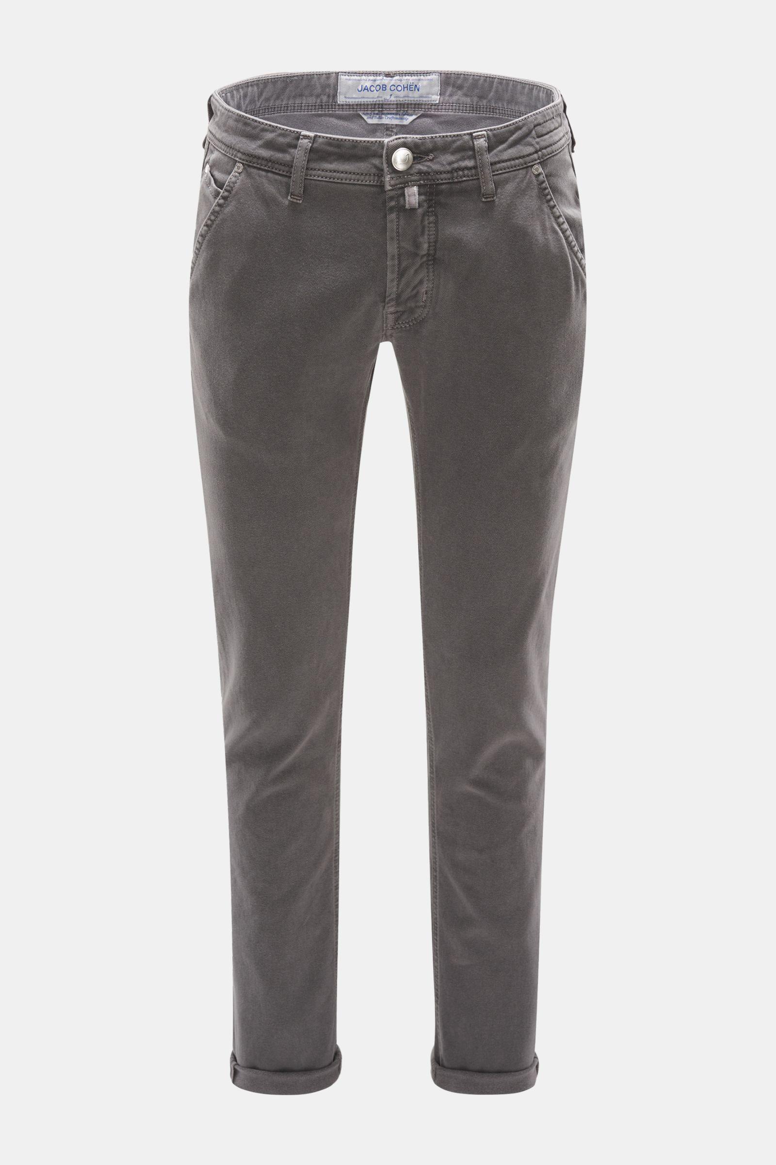 Baumwollhose 'J613 Comfort Vintage Slim Fit' grau