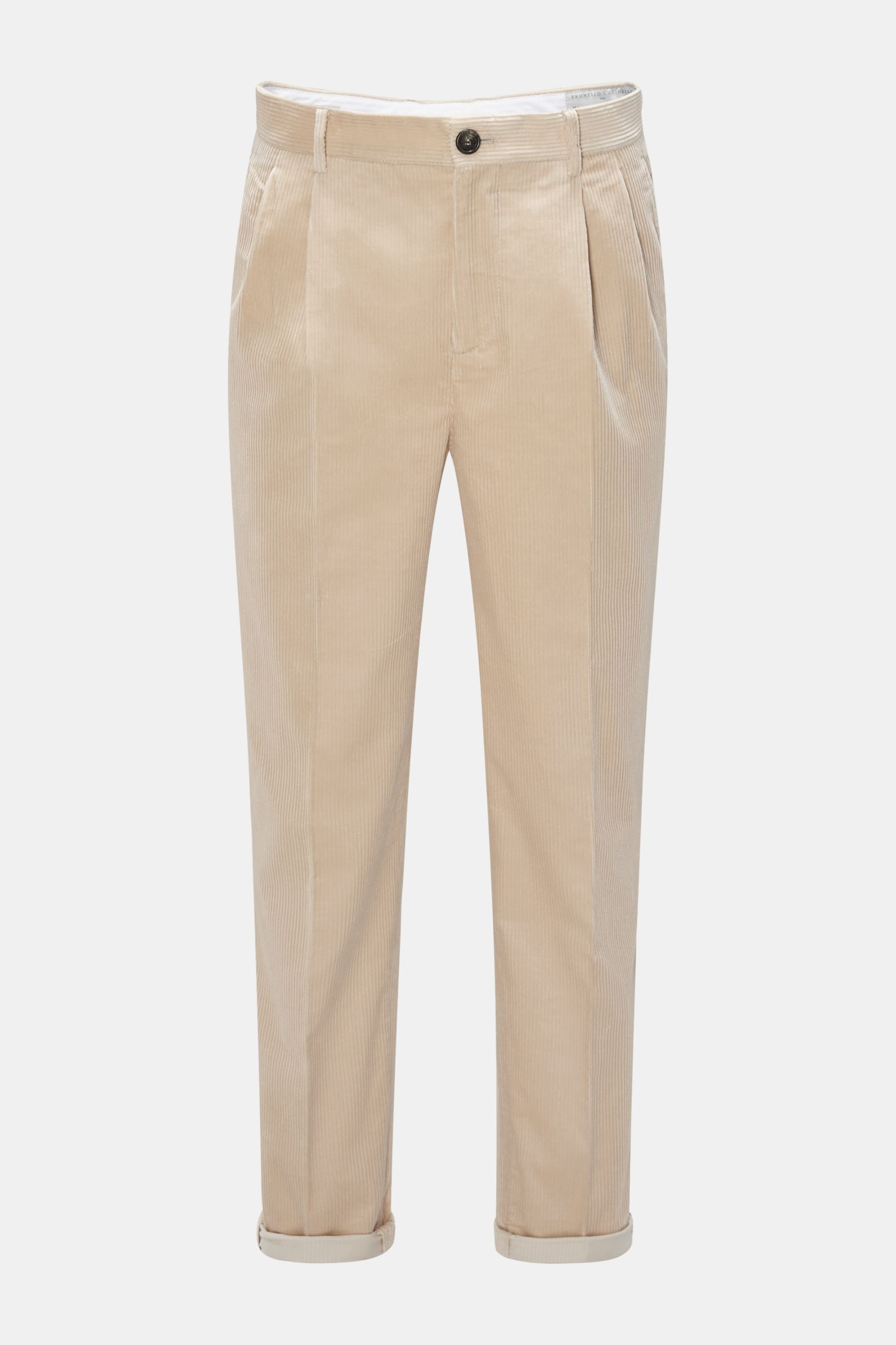 Cordhose 'Easy Fit' beige