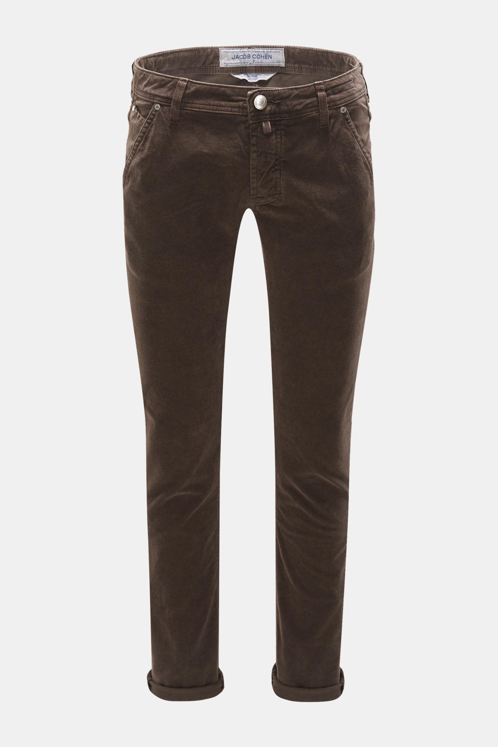 Baumwollhose 'J613 Comfort Extra Slim Fit' graubraun