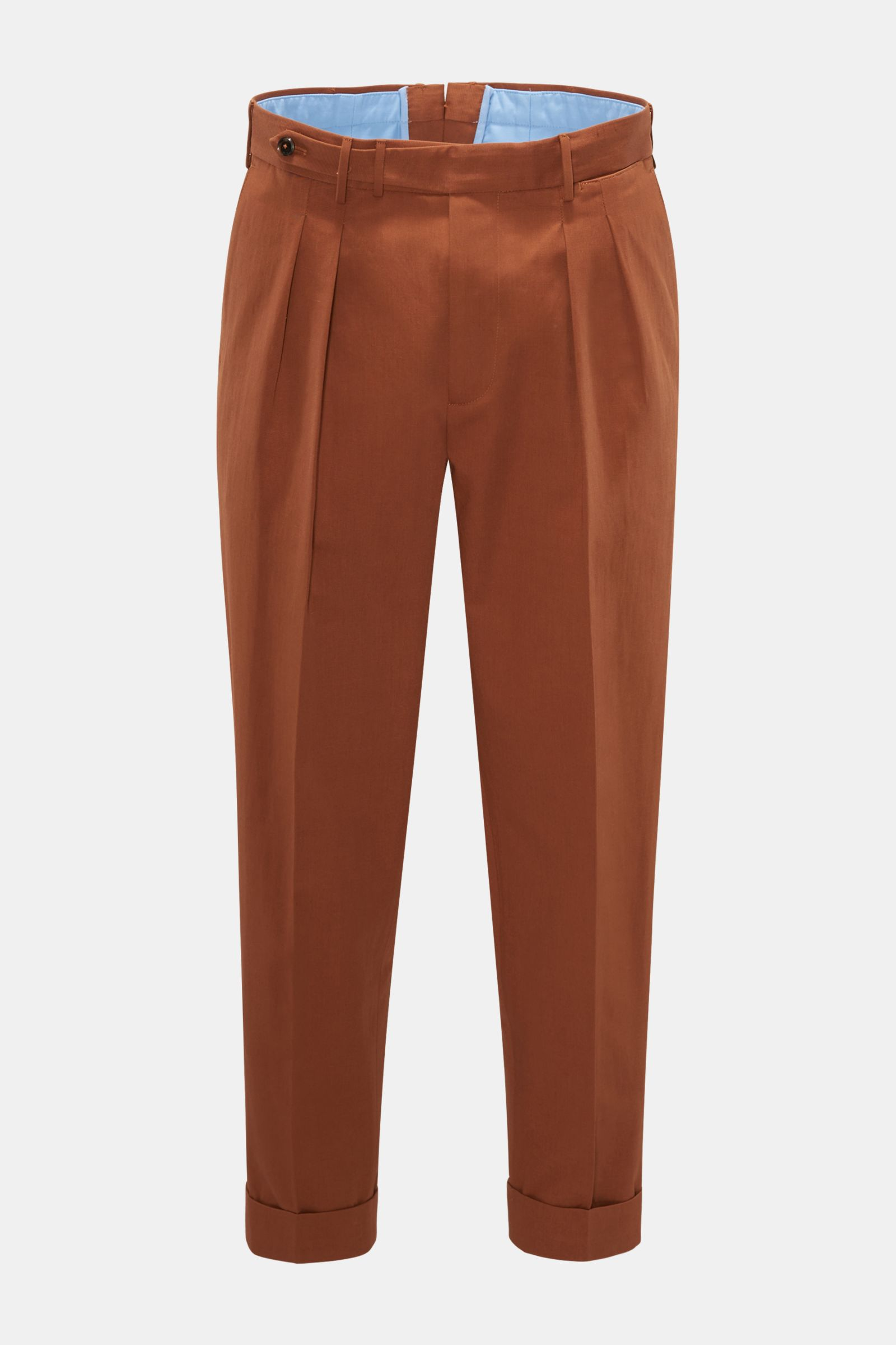 Trousers 'Carrot Fit' rust brown