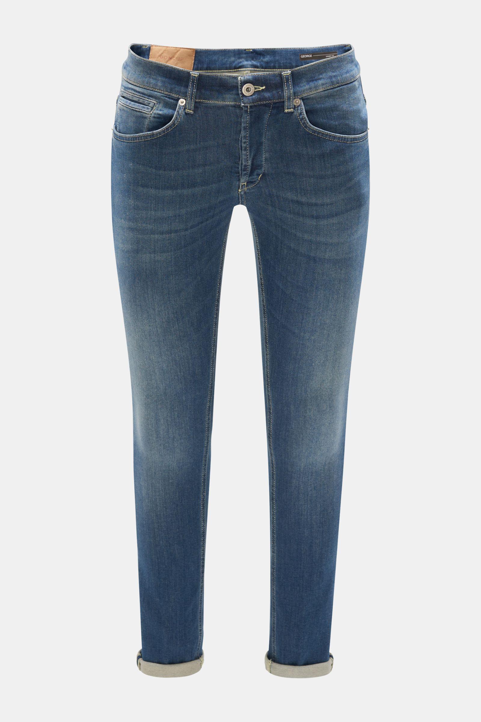 Sweat-Jeans 'George Skinny Fit' graublau