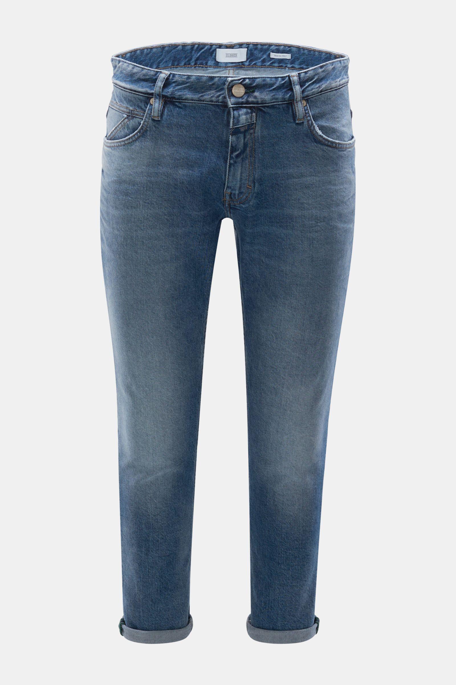 Jeans 'Drop Cropped' rauchblau