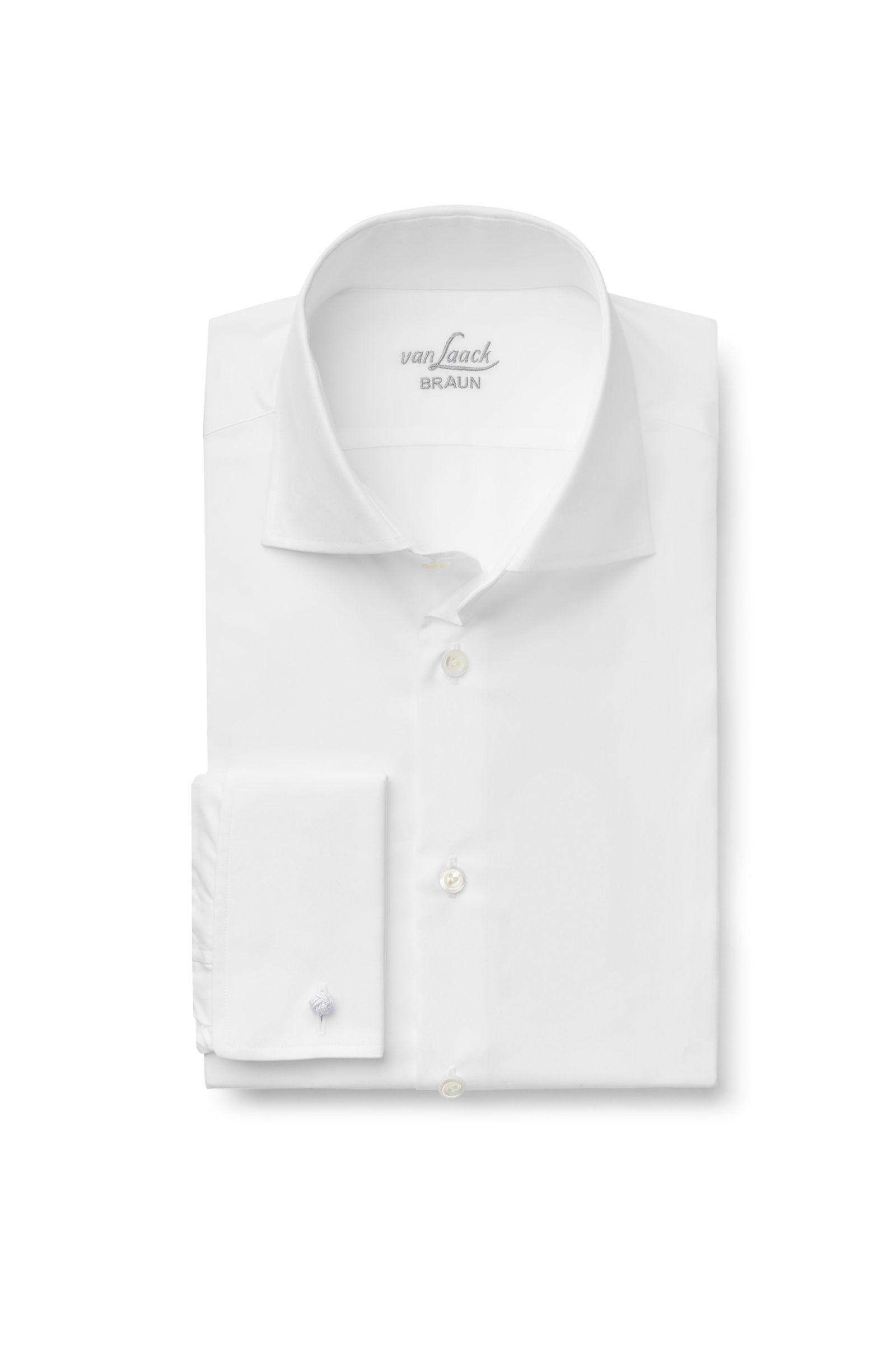 Business Hemd 'Rivara Tailor Fit' Haifisch-Kragen weiß