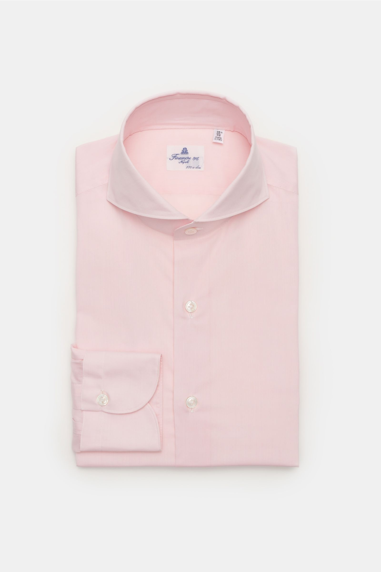 Business shirt 'Sergio Milano' shark collar rose