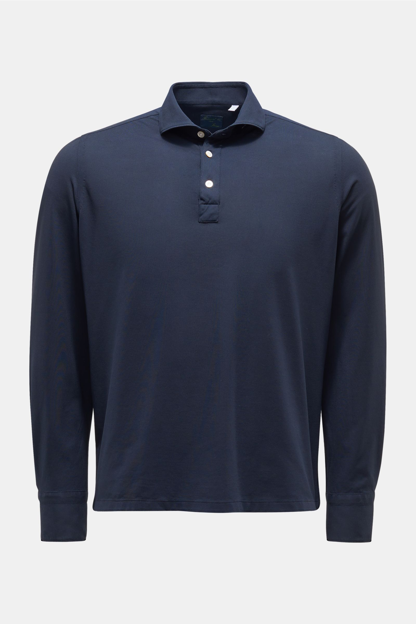 Long sleeve polo shirt 'Achille Orlando' navy