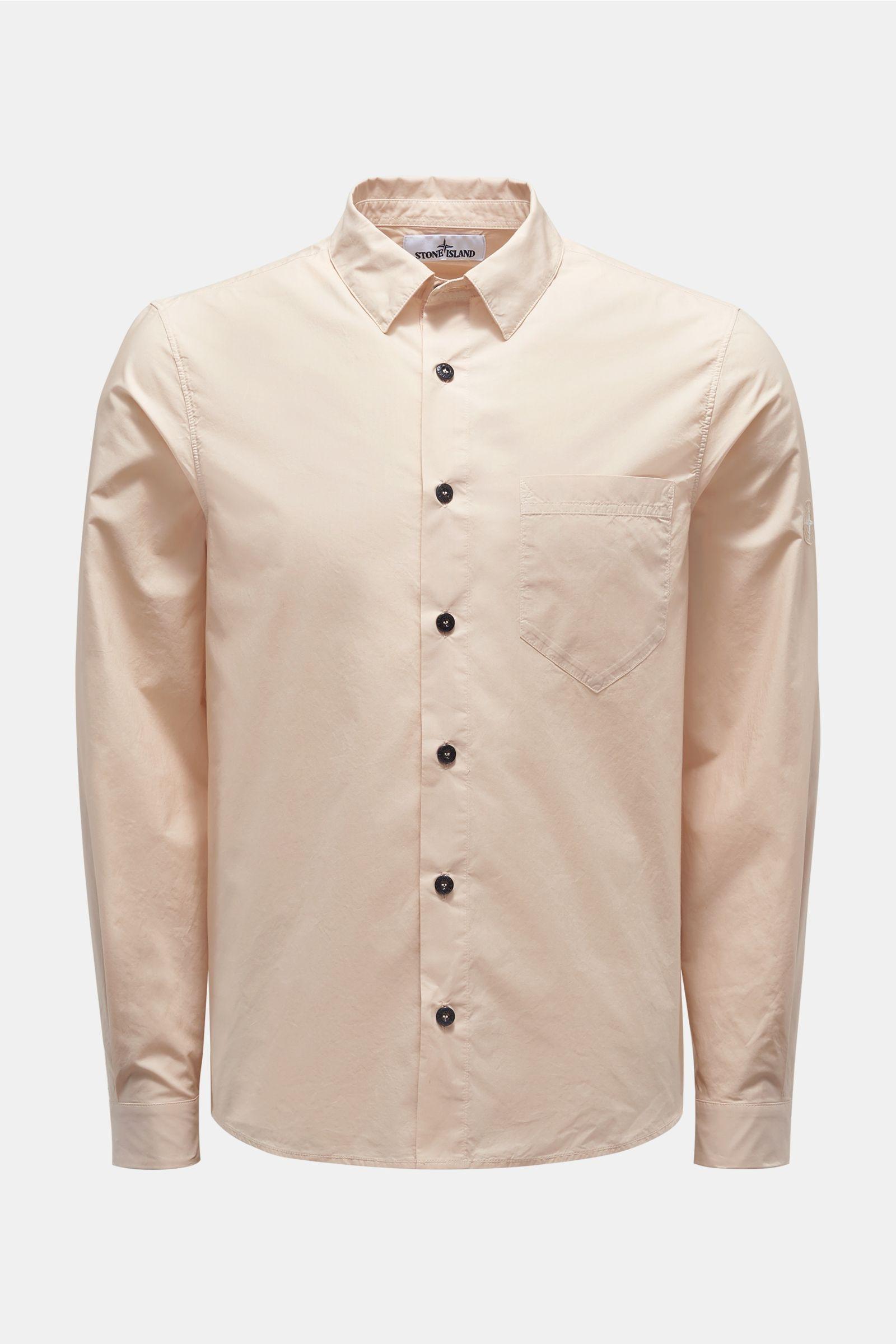 Casual Hemd schmaler Kragen beige
