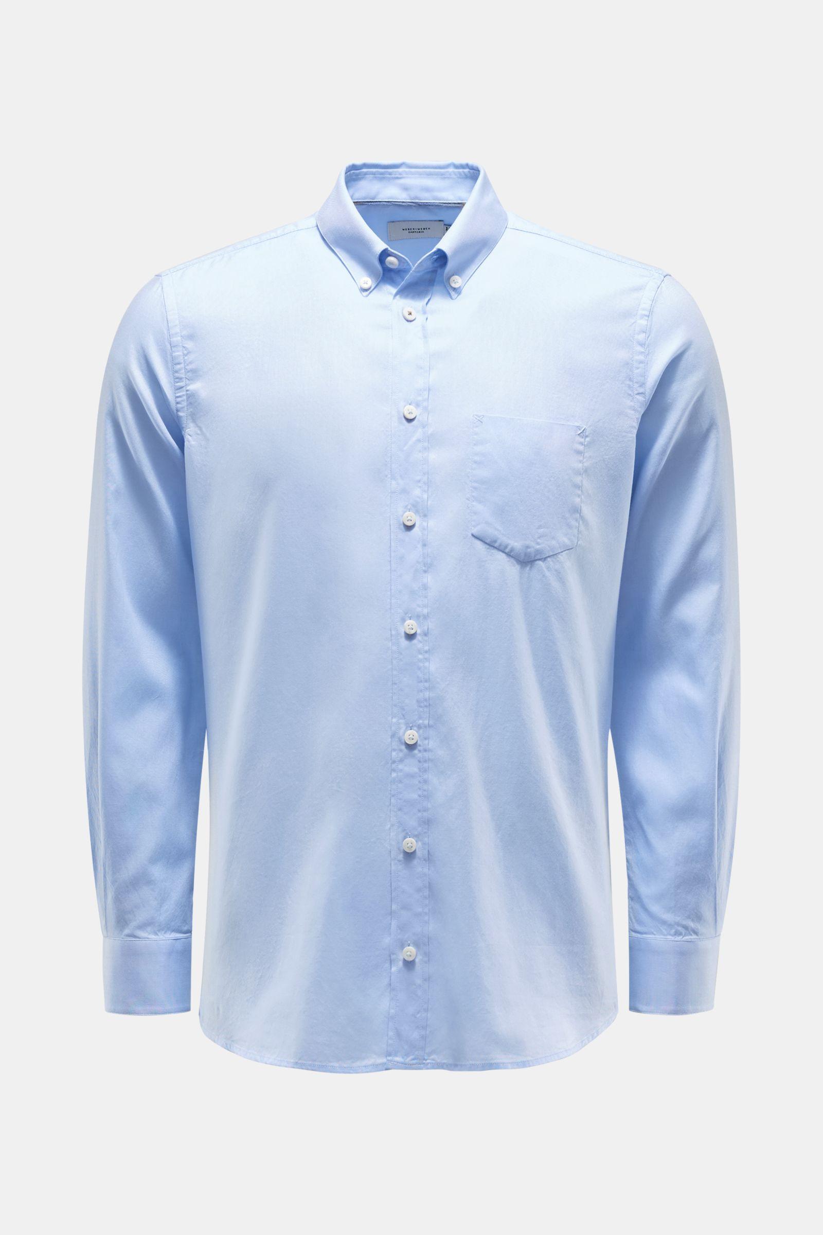 Oxford Hemd Button-Down-Kragen hellblau