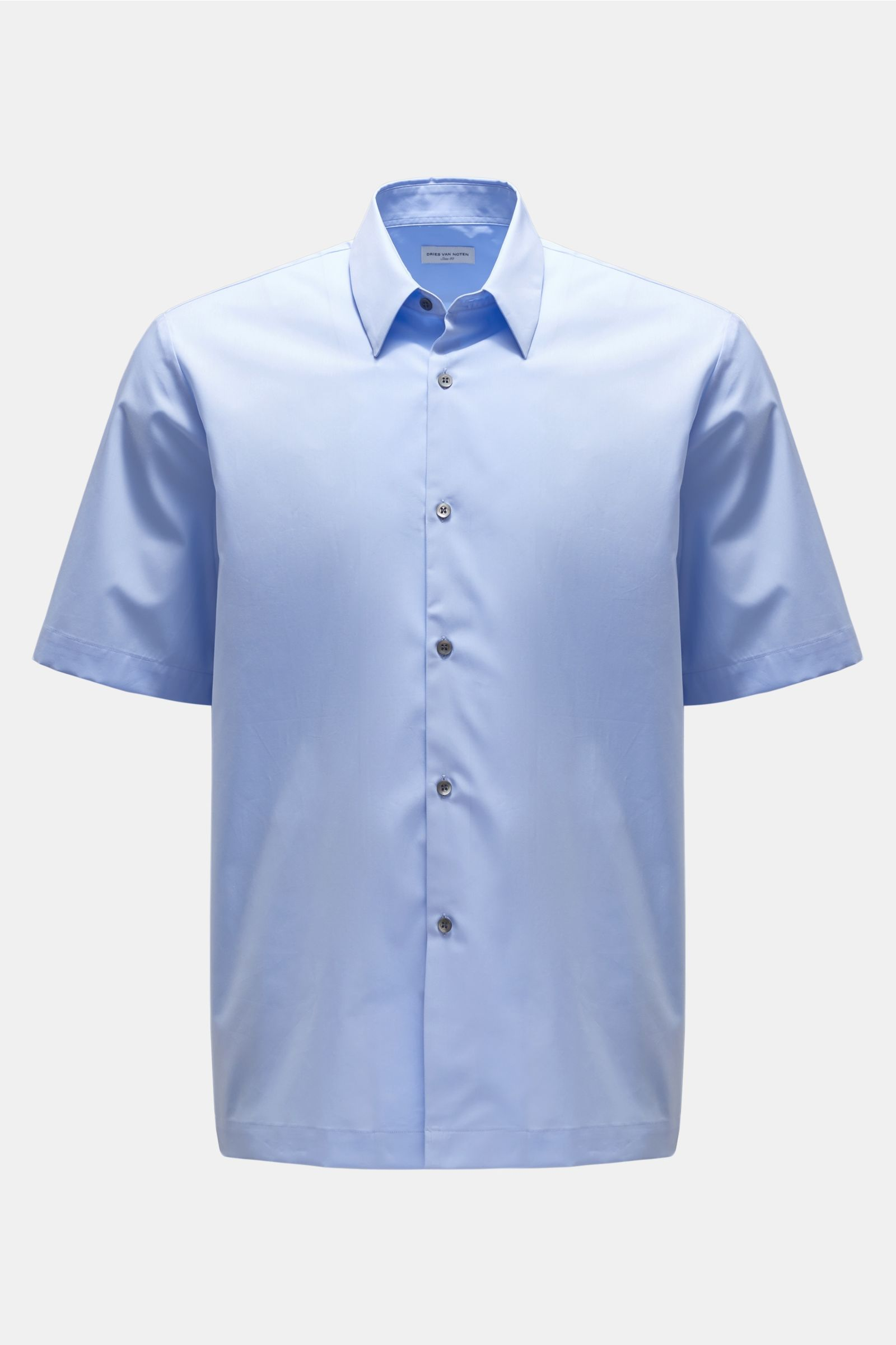 Short sleeve shirt Kent collar light blue