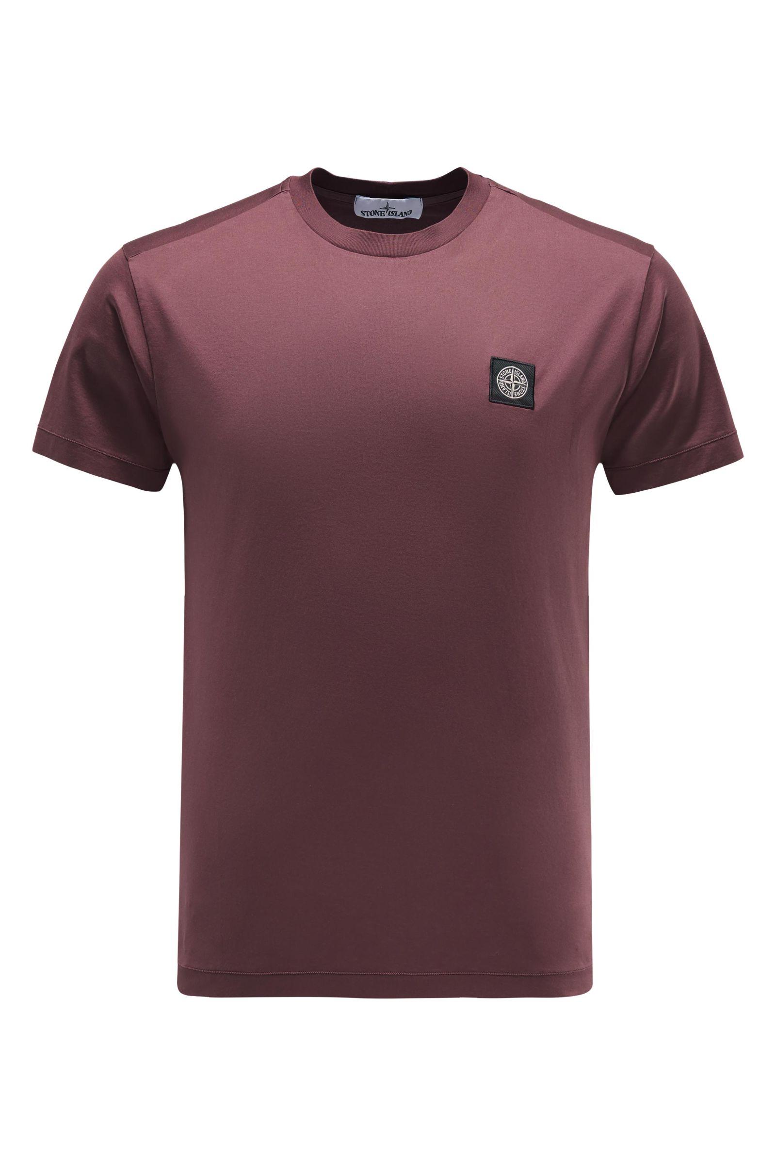 R-Neck T-Shirt bordeaux