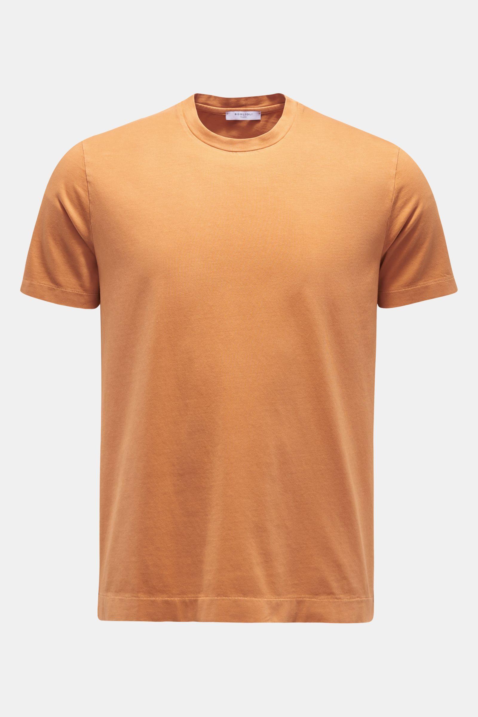 Rundhals-T-Shirt orange