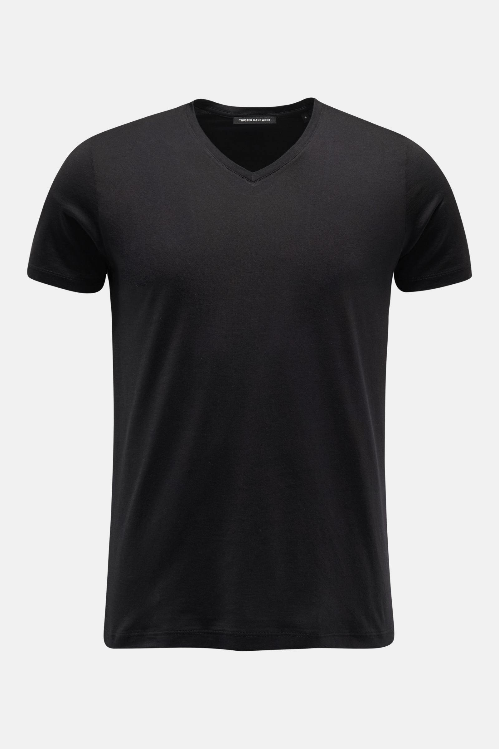 V-Neck T-Shirt schwarz
