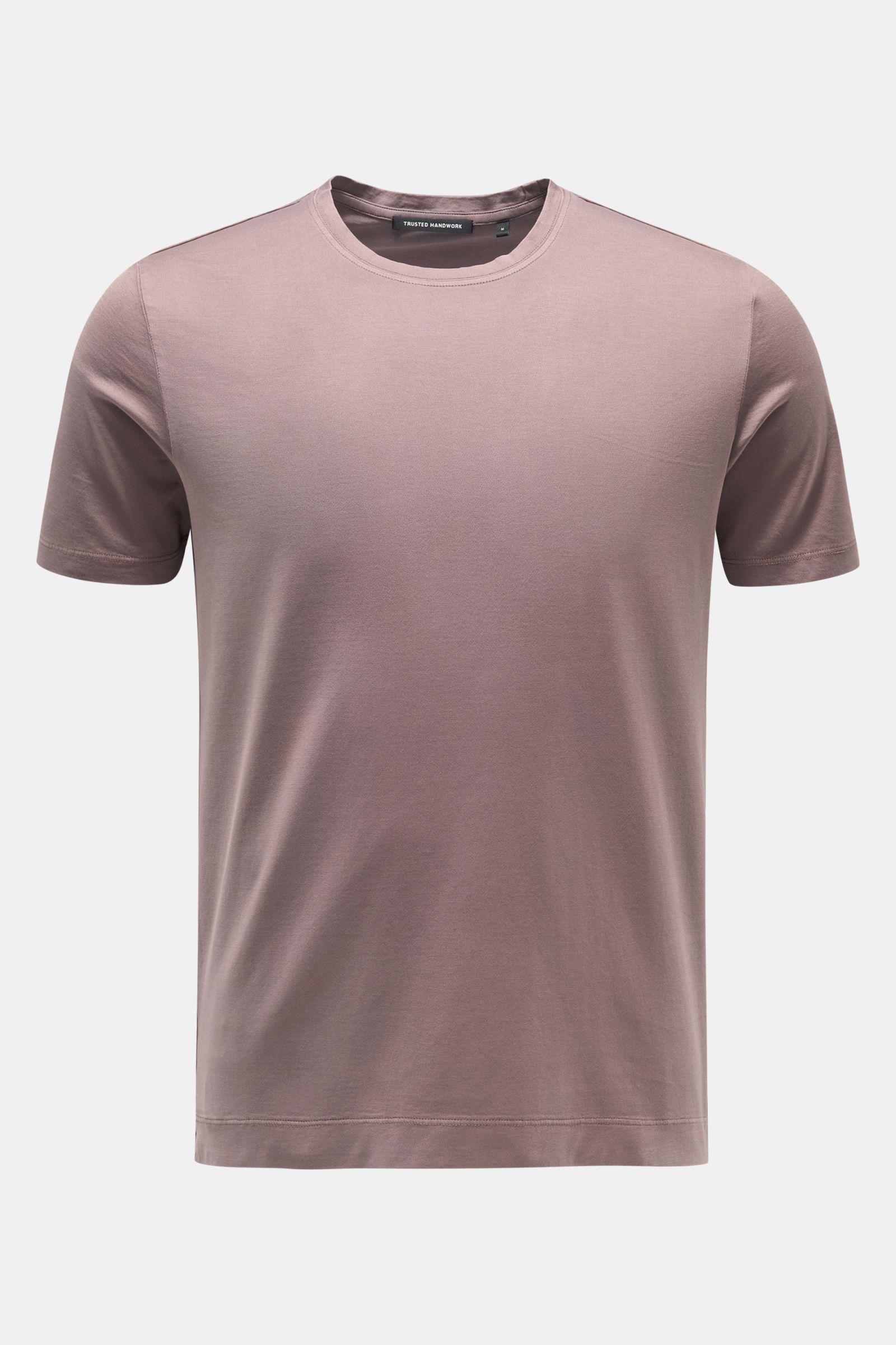 Rundhals-T-Shirt violett