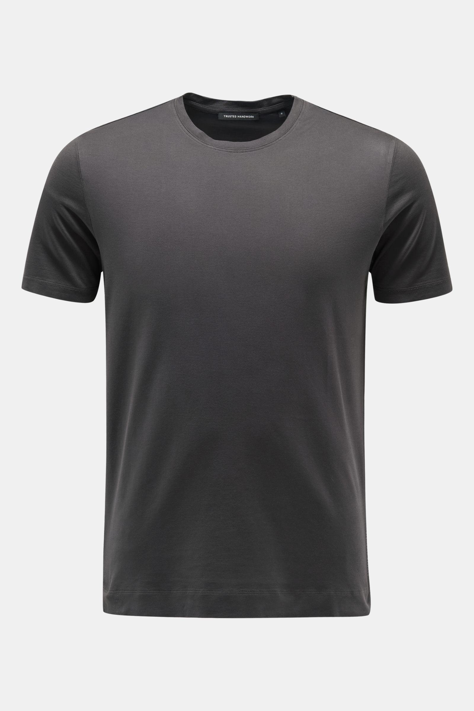 Rundhals-T-Shirt anthrazit