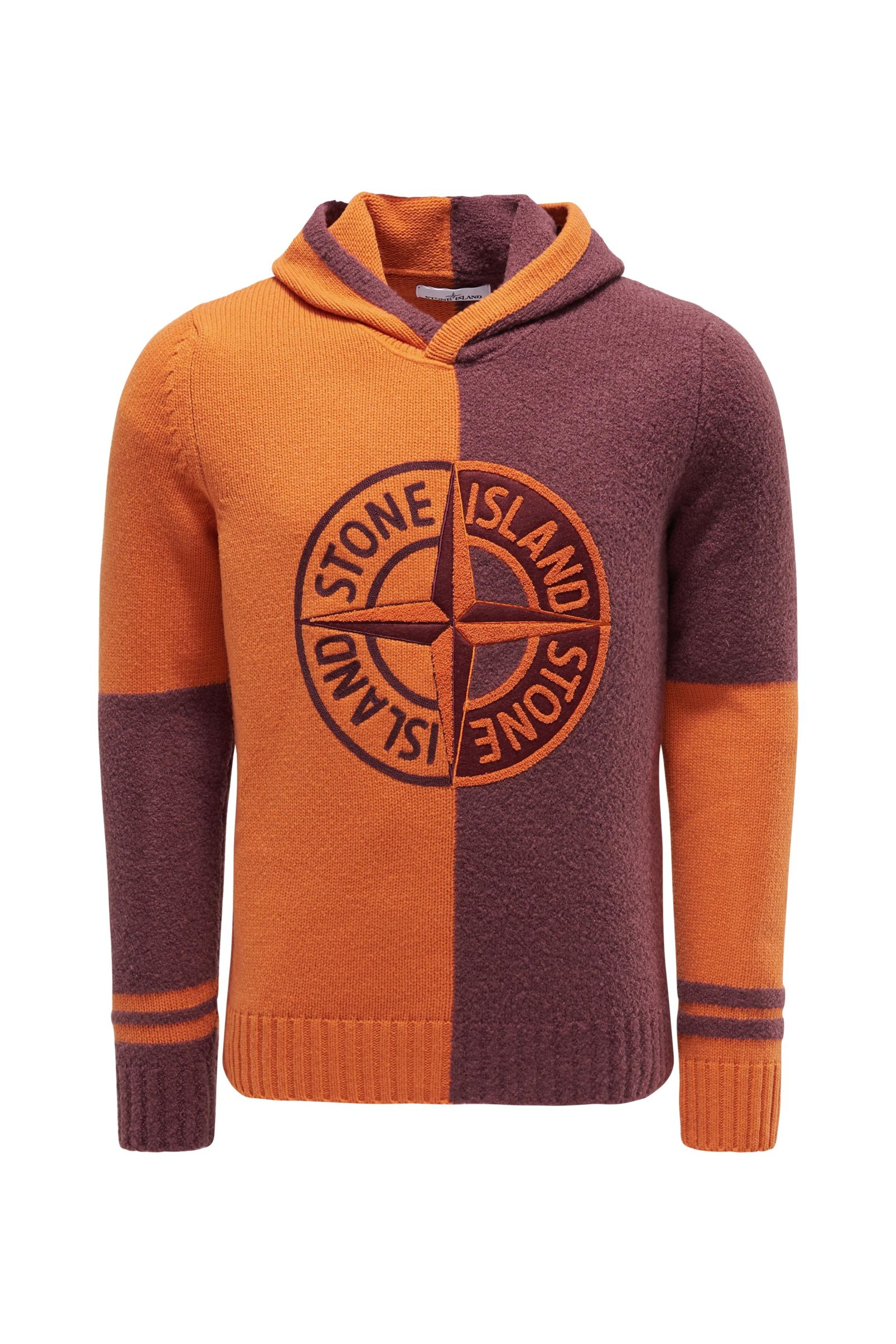 Kapuzenpullover orange/bordeaux