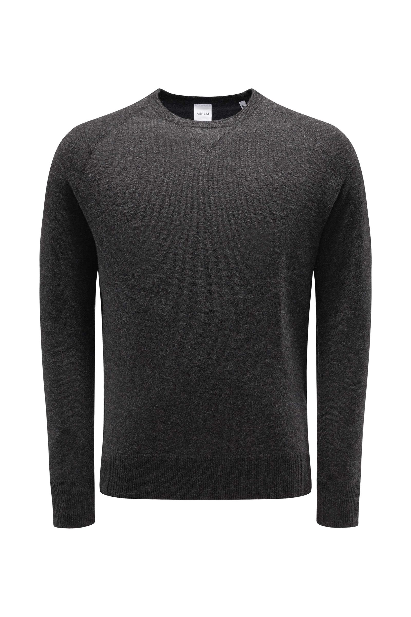 R-Neck Pullover anthrazit