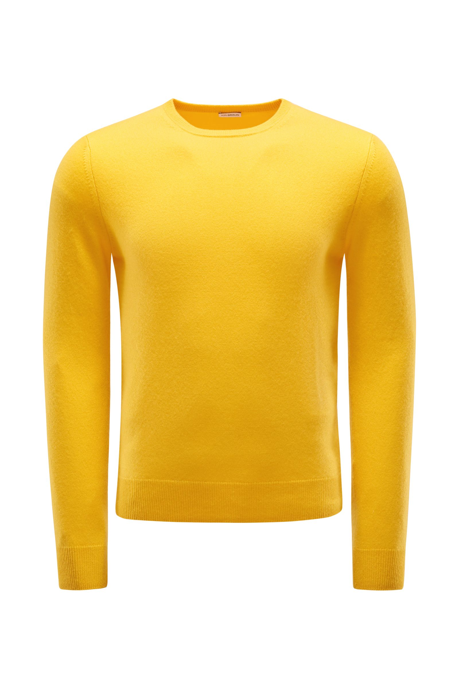 Cashmere R-Neck Pullover gelb