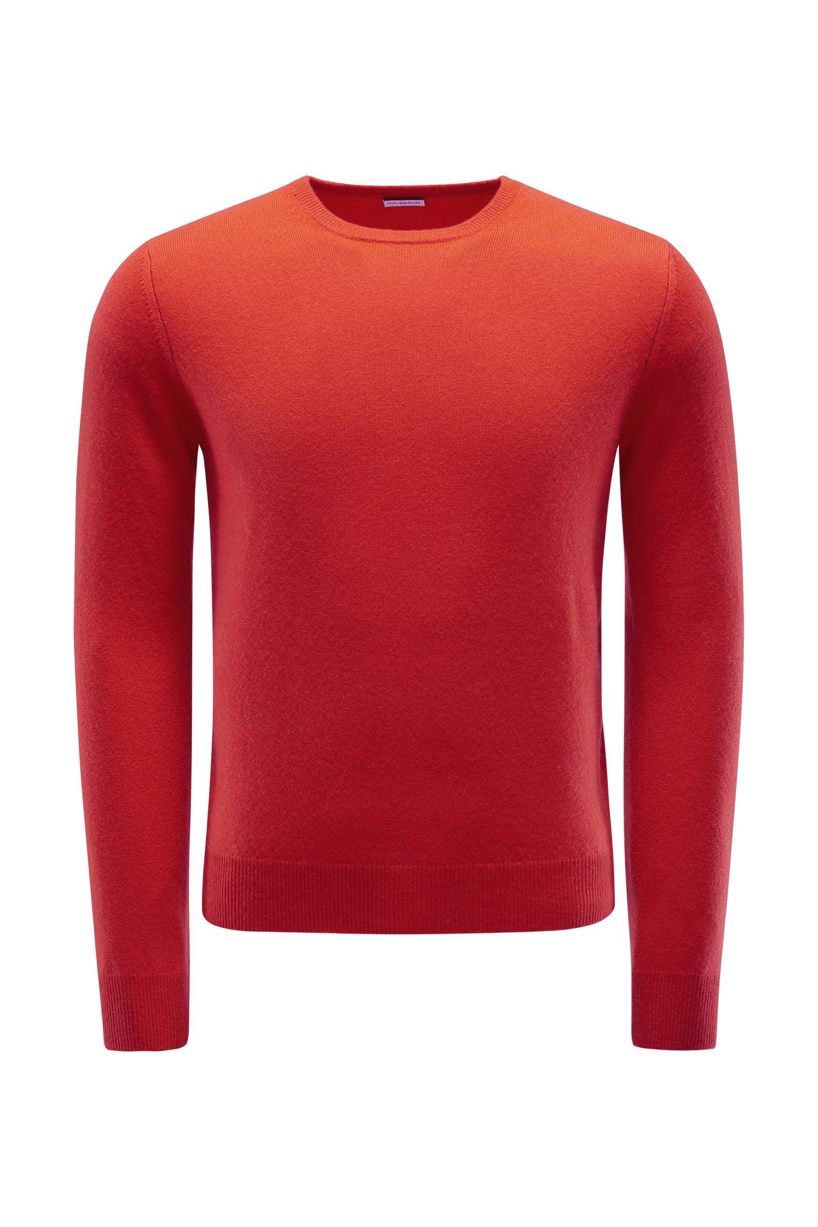Cashmere R-Neck Pullover orange