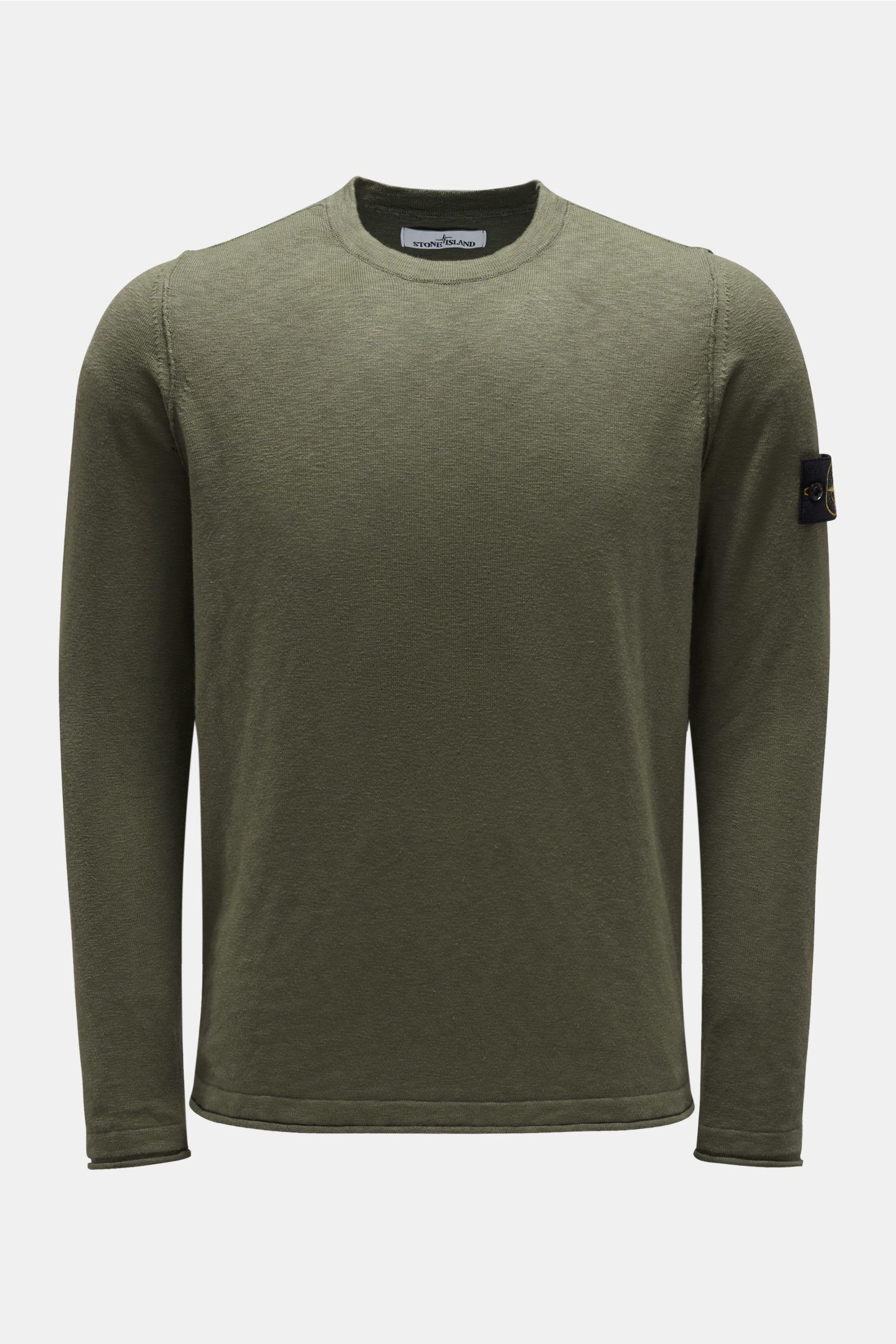 Crew neck jumper grey-green