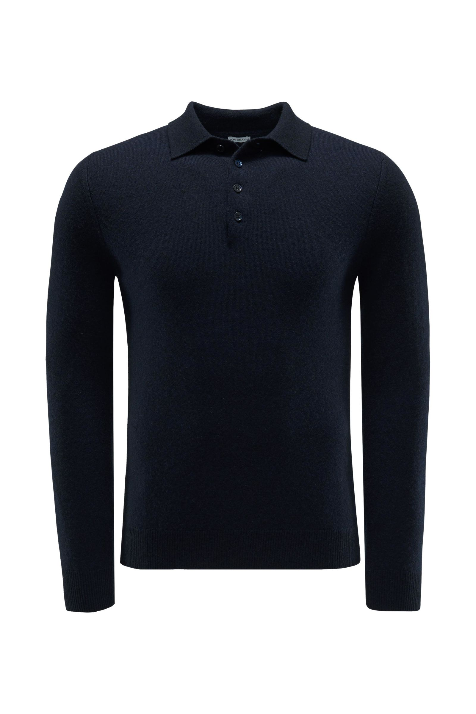 Cashmere Strickpolo navy