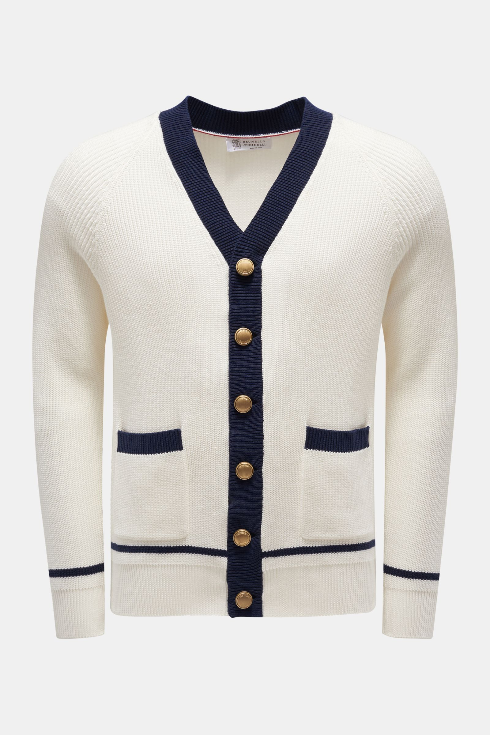 Cardigan offwhite/navy