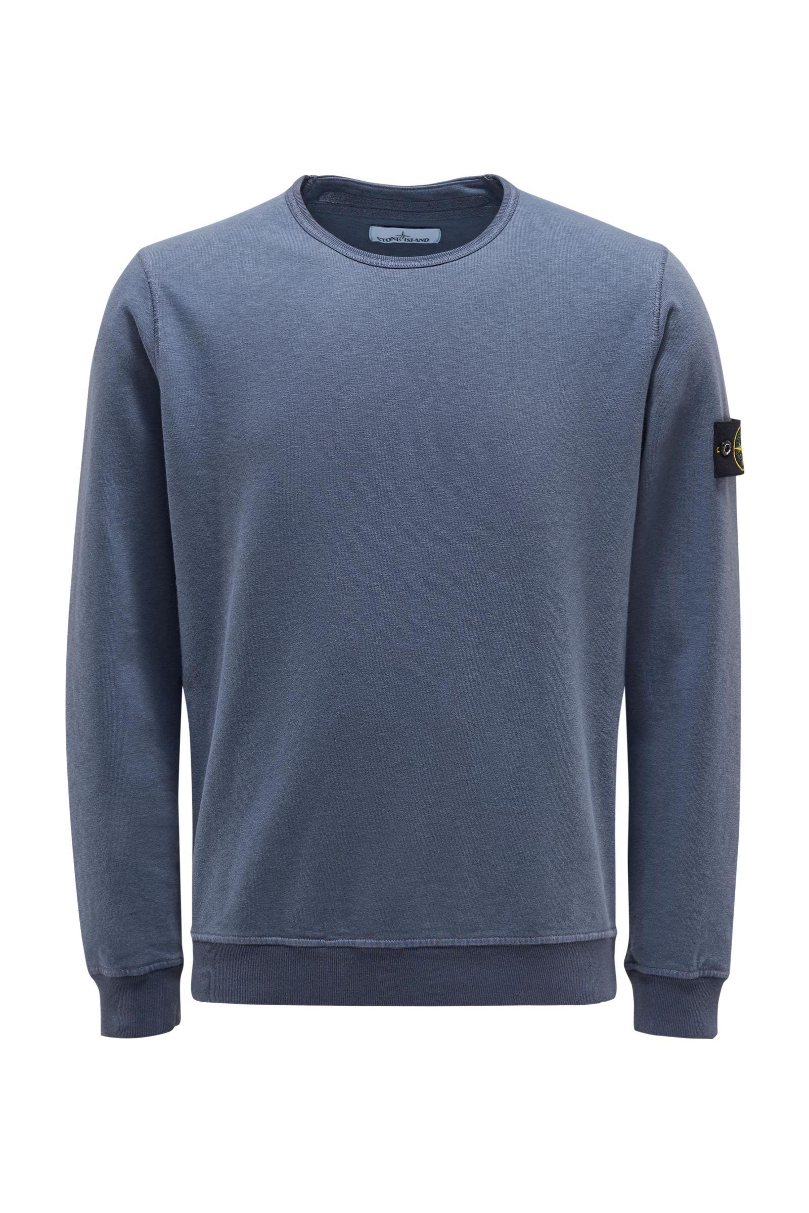R-Neck Sweatshirt graublau