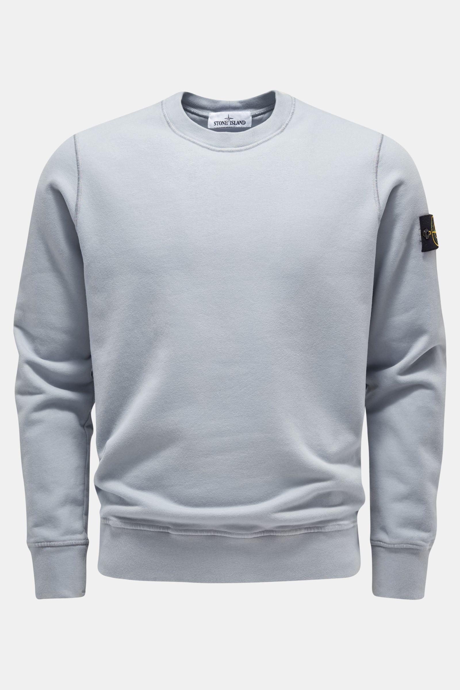 Rundhals-Sweatshirt hellblau