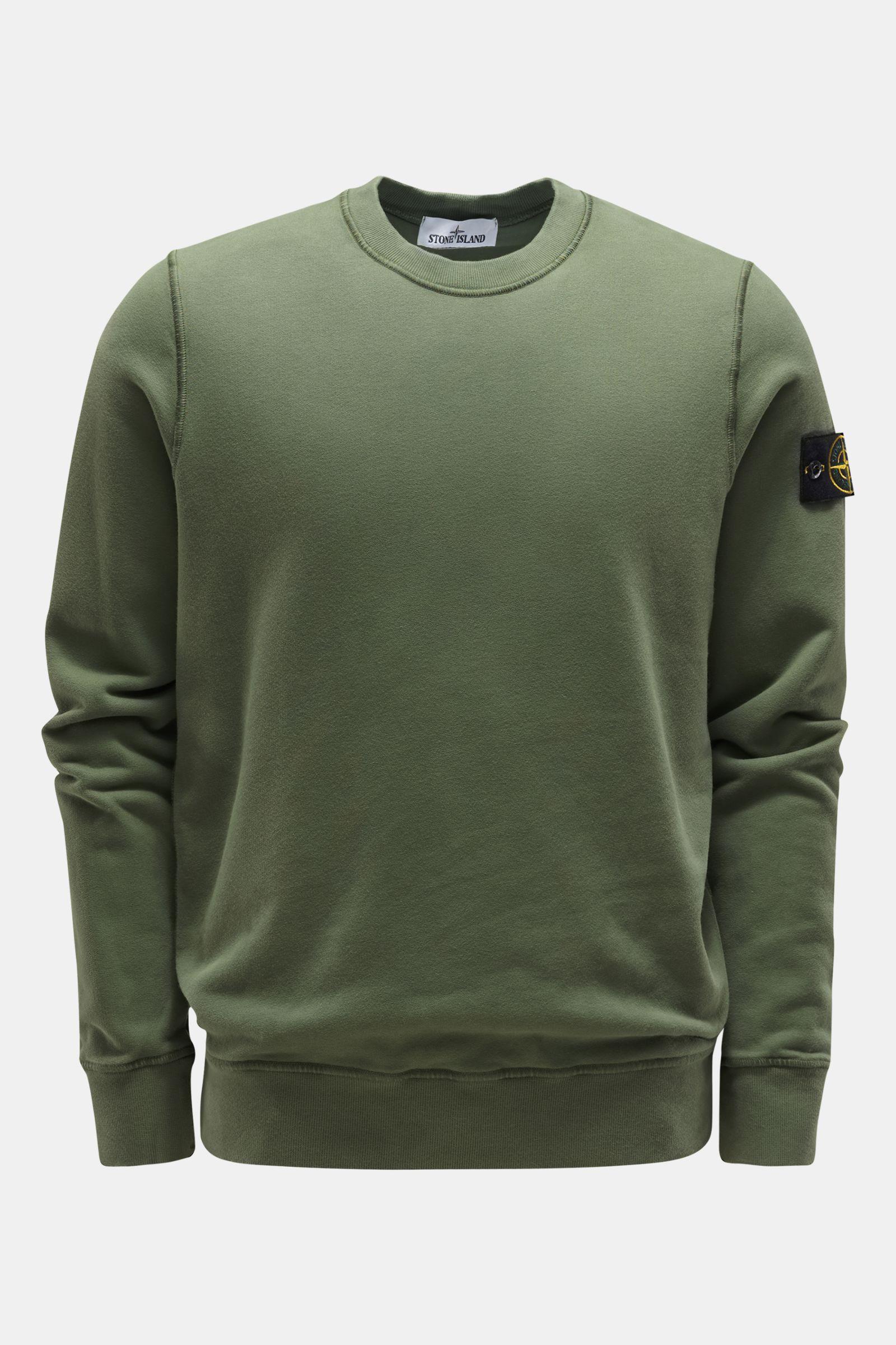 Rundhals-Sweatshirt graugrün