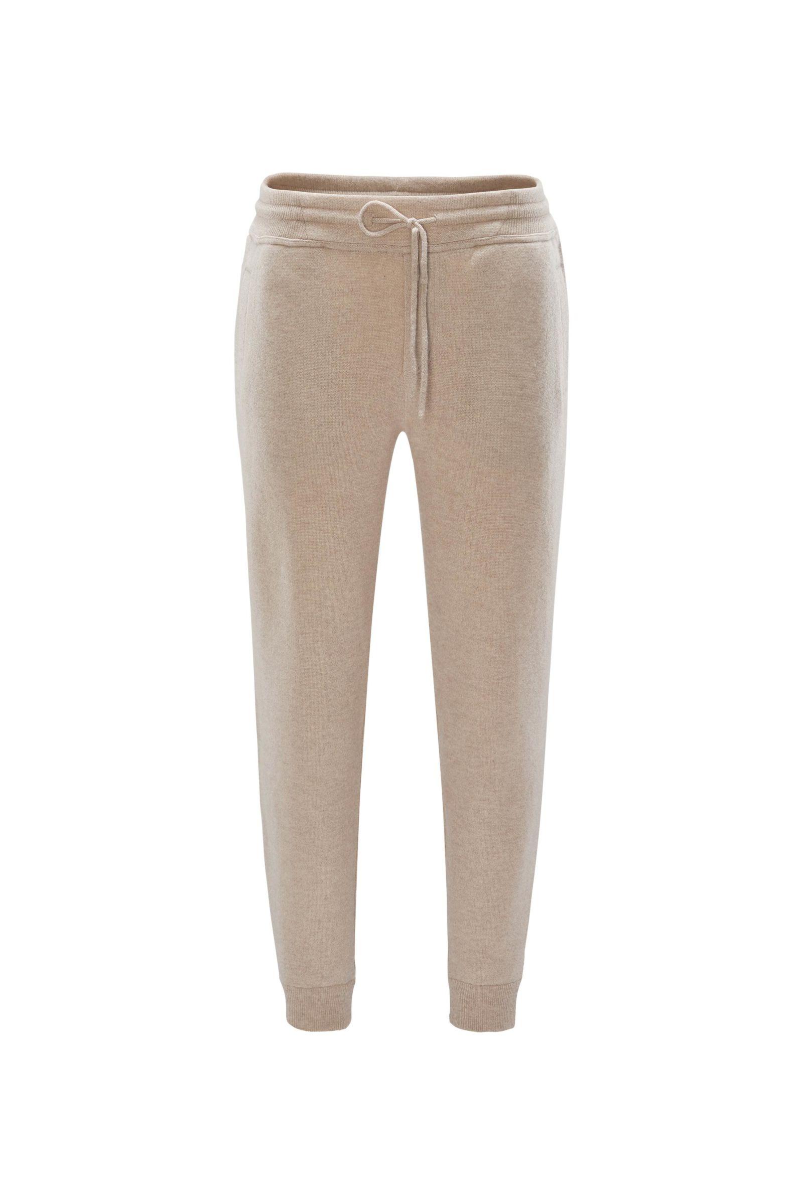 Cashmere jogger pants beige