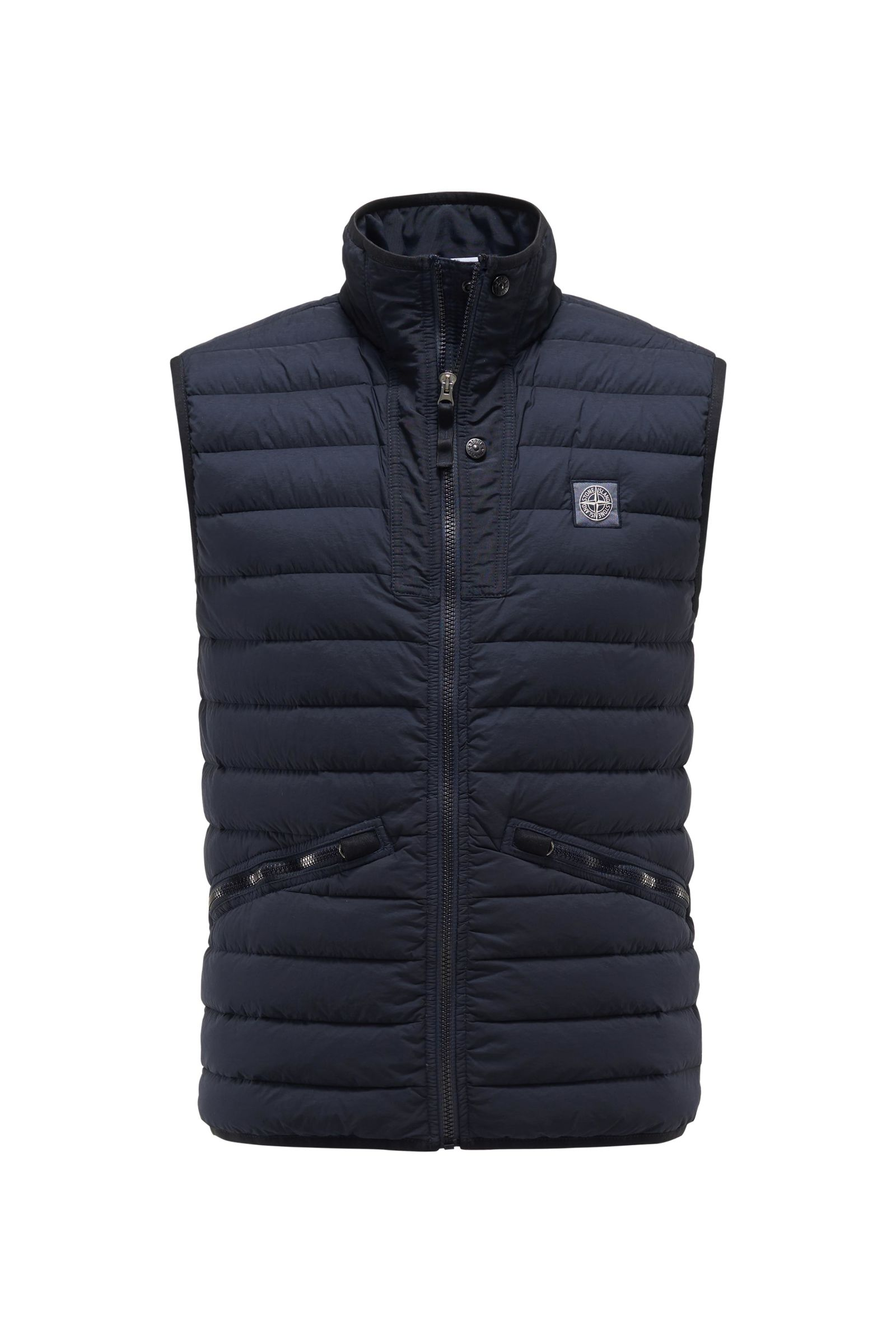 Down gilet 'Loom Woven Down Chambers Stretch Nylon-TC' dark navy