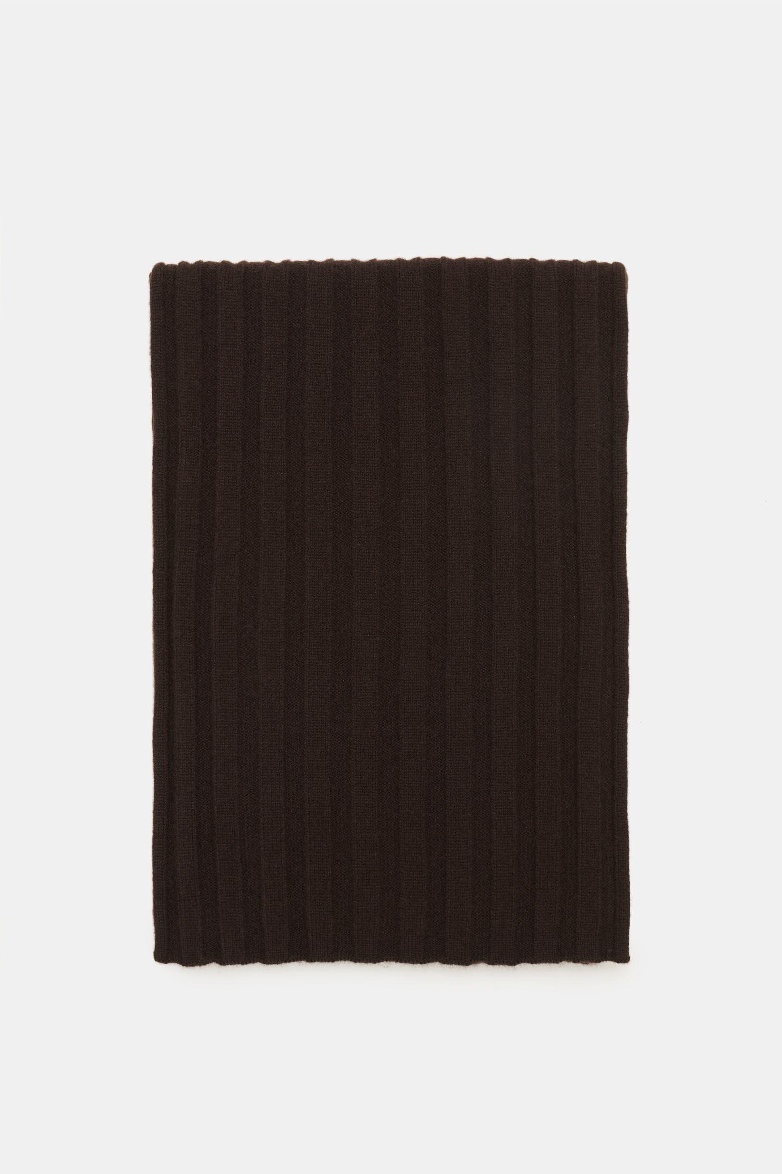 Cashmere Schal dunkelbraun