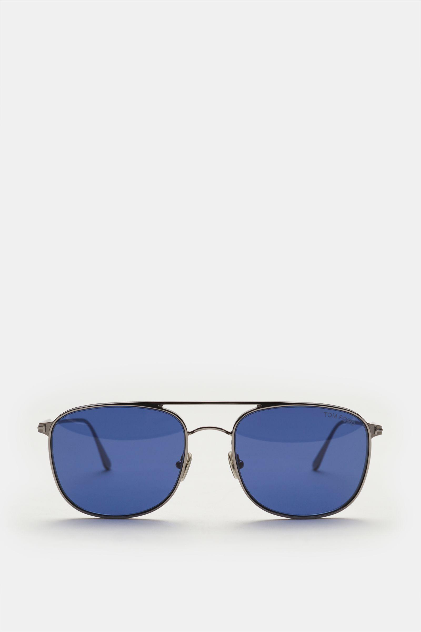 Sonnenbrille 'Jake' silber/dunkelblau