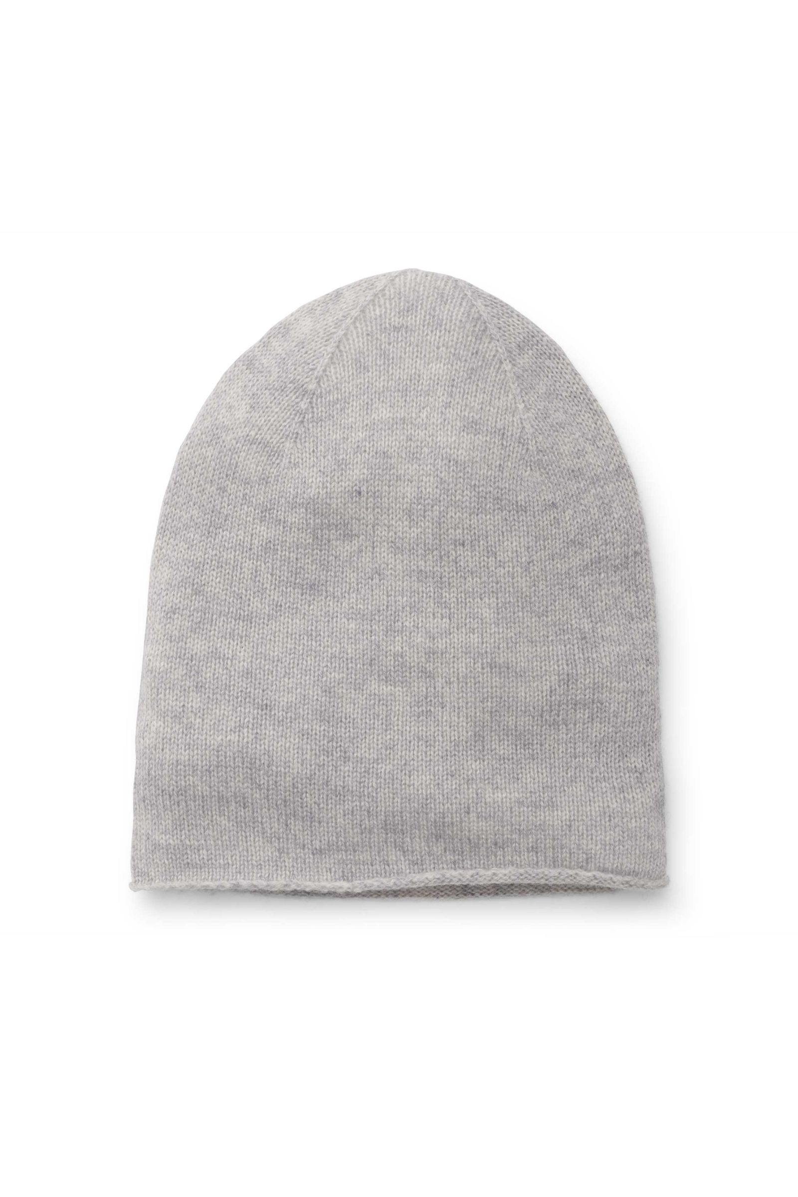 Kinder Cashmere Mütze hellgrau