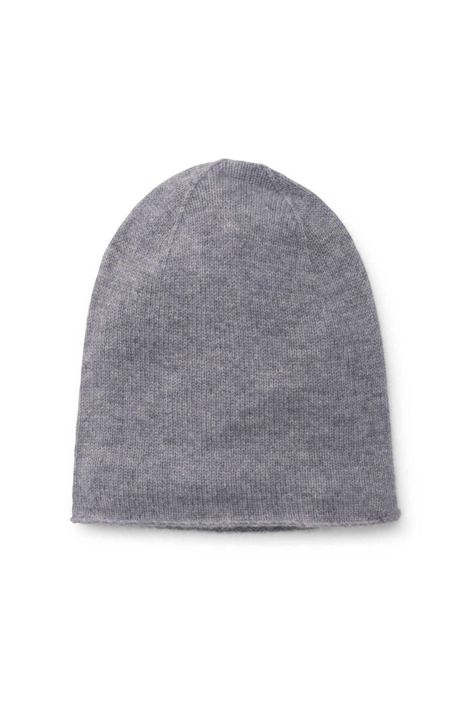 Kinder Cashmere Mütze grau