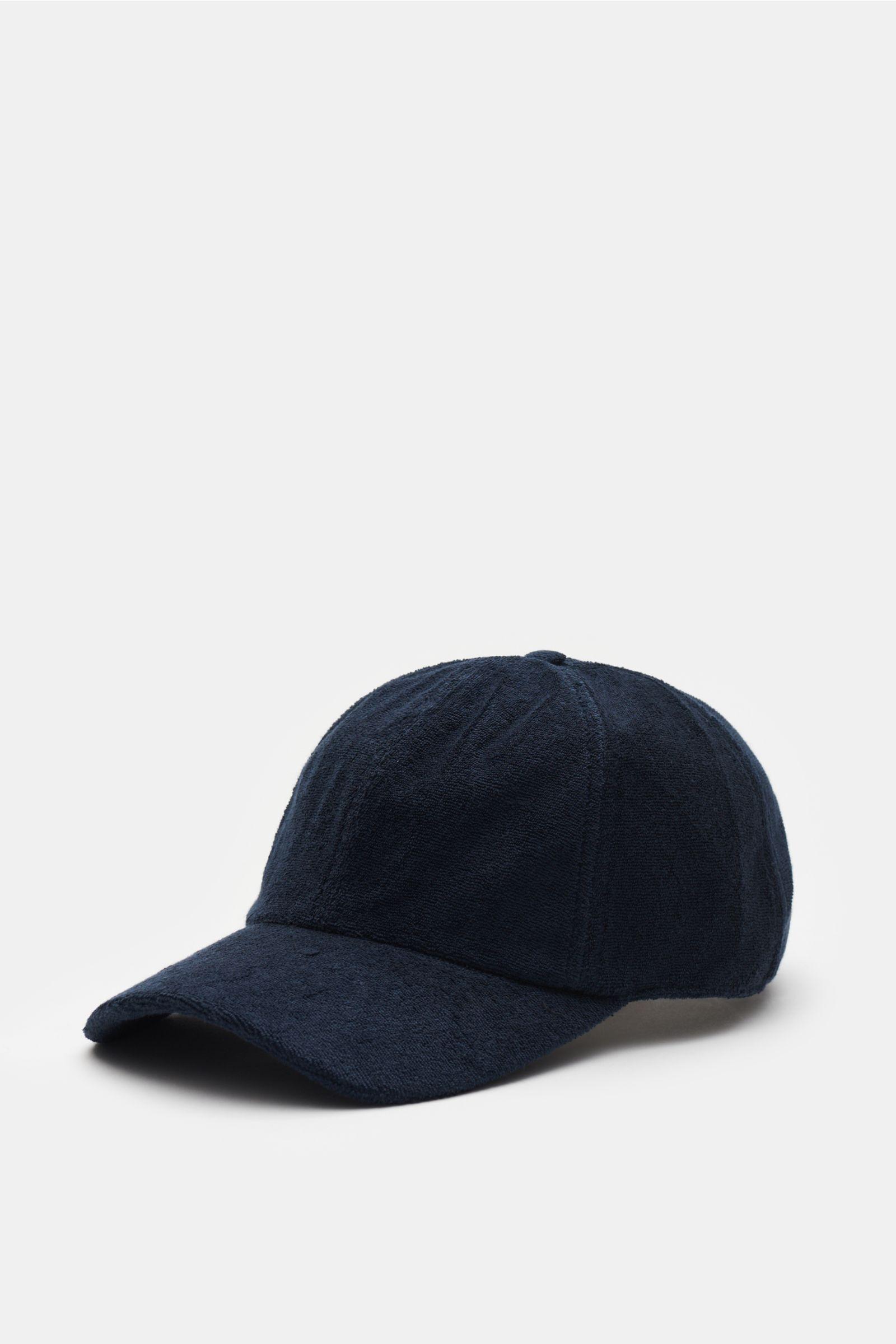 Frottee-Cap navy