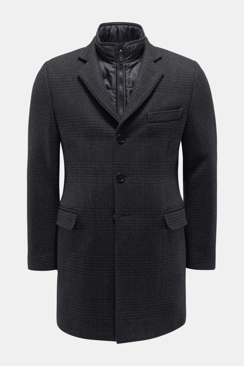 Kurzmantel 'Easy Double Coat' anthrazit kariert