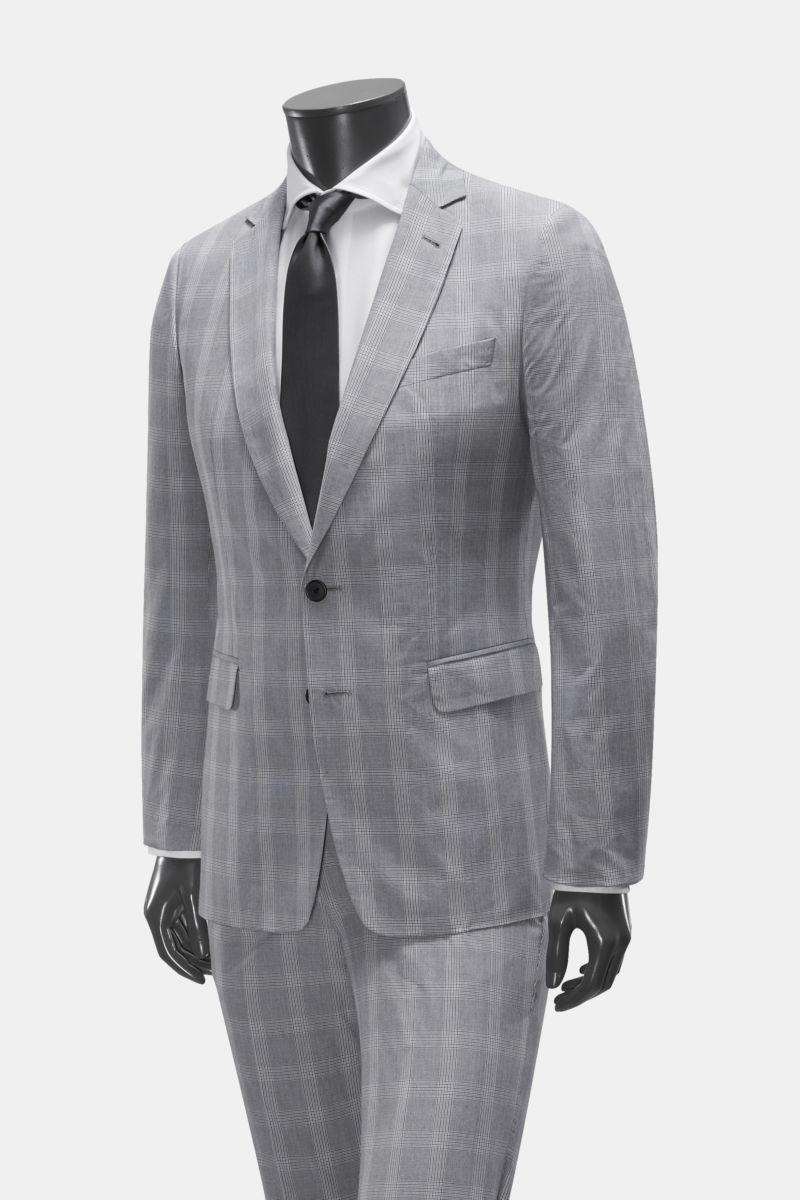 Anzug grau/schwarz kariert