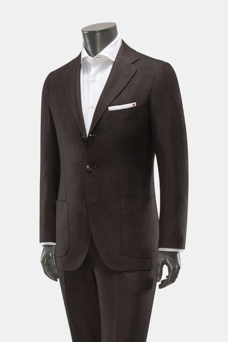 Cashmere Anzug dunkelbraun