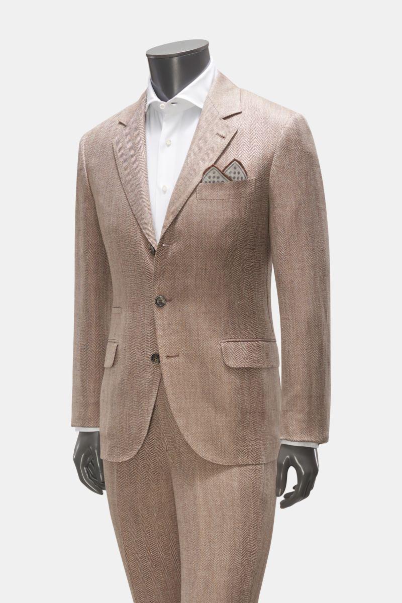 Anzug beige/braun