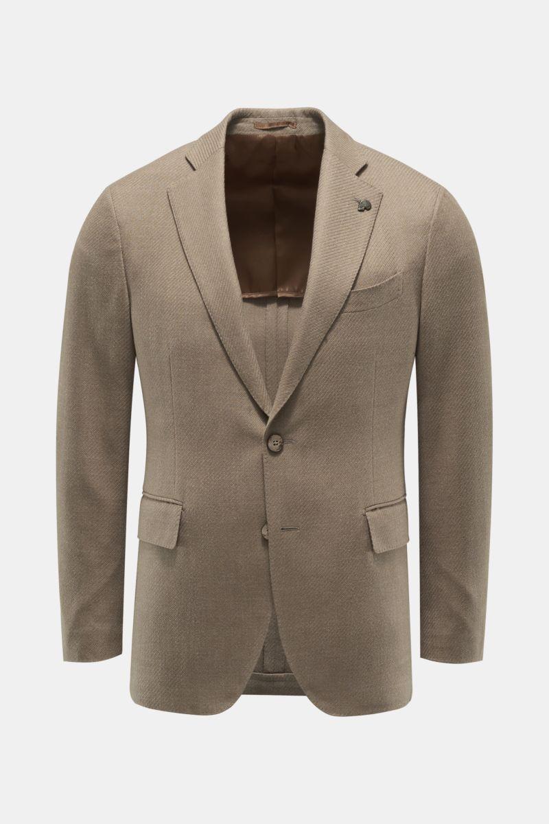 Smart-casual jacket grey-brown