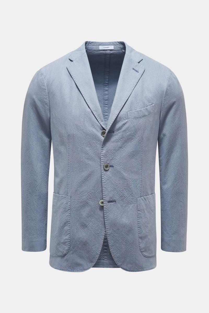 Seersucker-Sakko 'K. Jacket' rauchblau