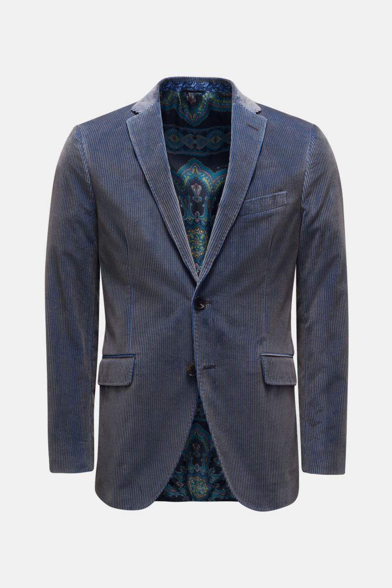 Cordsakko blau/grau