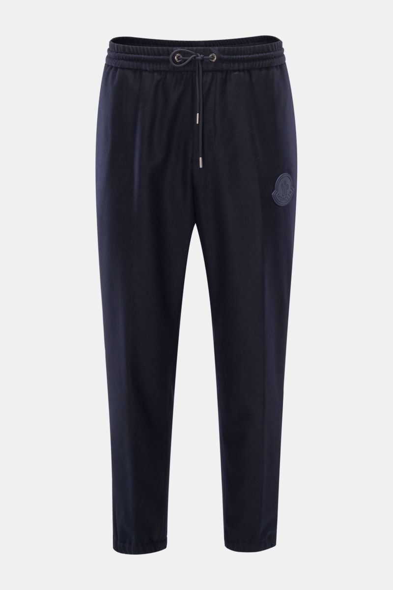 Woll-Joggpants navy