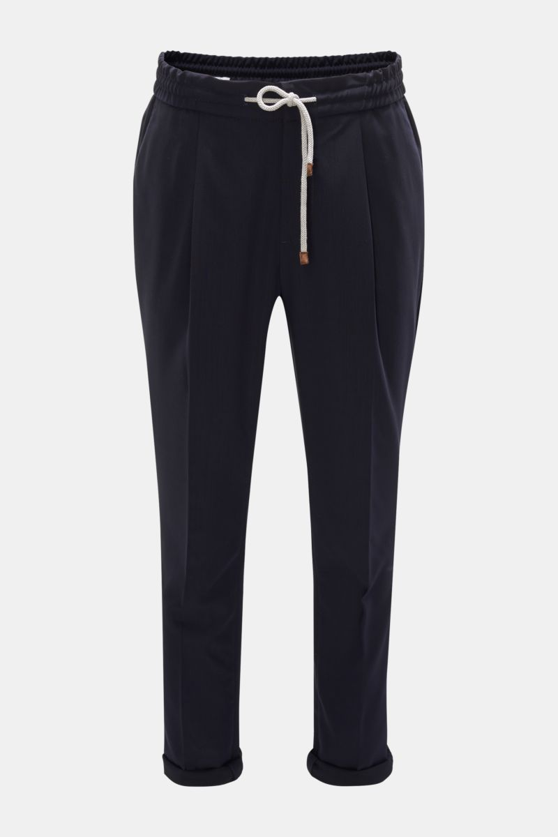 Woll-Joggpants 'Leisure Fit' navy