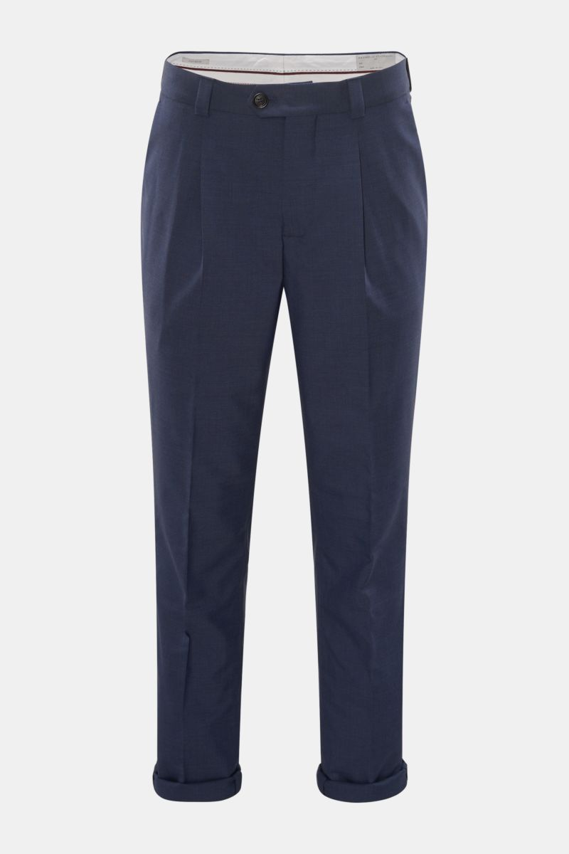 Wollhose 'Leisure Fit' navy