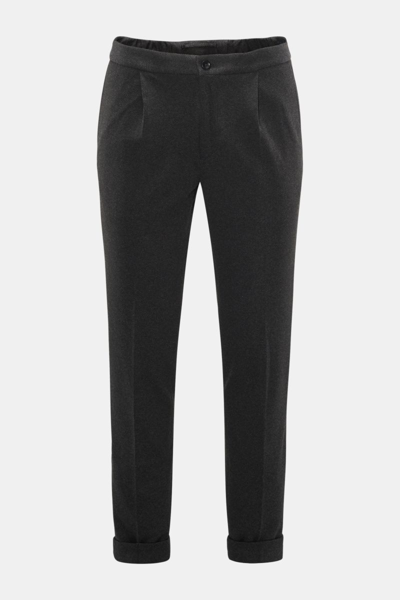 Jersey-Joggpants 'Tapered Fit' anthrazit