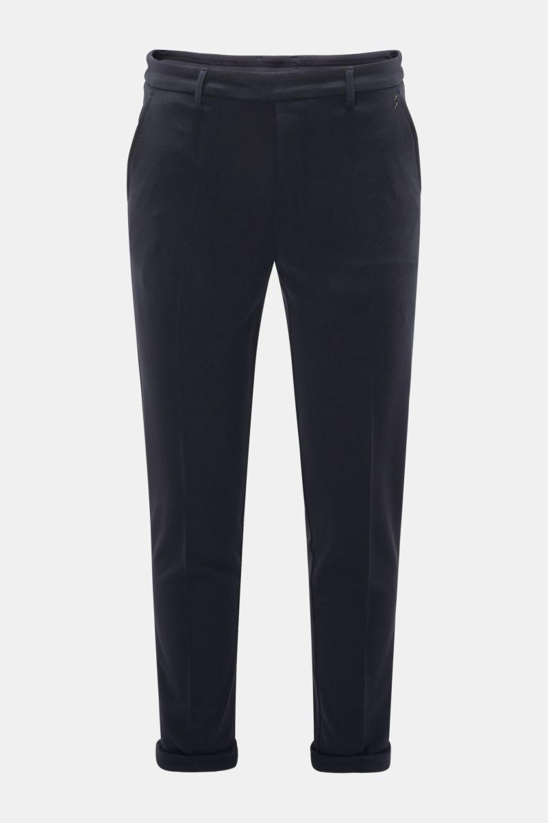 Woll-Joggpants dark navy